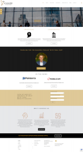 Canary Capital Home Page Web Design